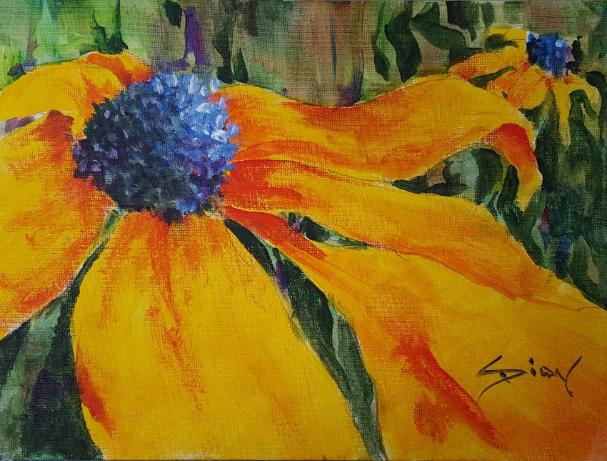 """""""Rudbekia"""" original fine art by Sue Dion"""
