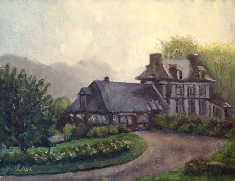 """""""Foggy Morning"""" original fine art by Daniel Fishback"""