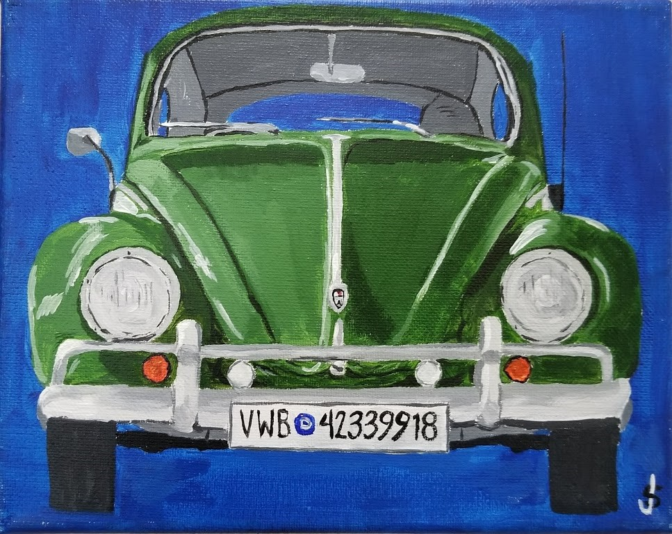 """Green Bug"" original fine art by Jeff Strzelczyk"