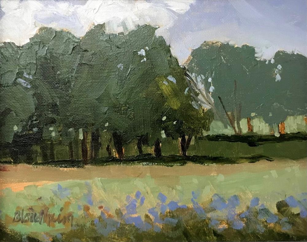 """Tree Rows"" original fine art by Linda Blondheim"