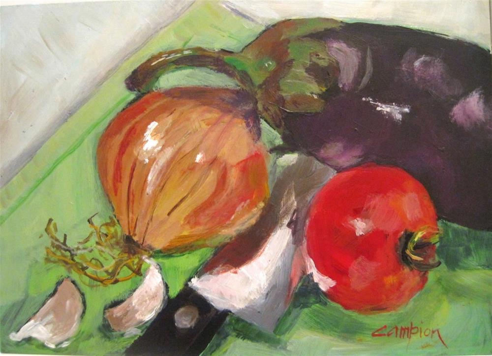 """478 Capanata in the Making"" original fine art by Diane Campion"