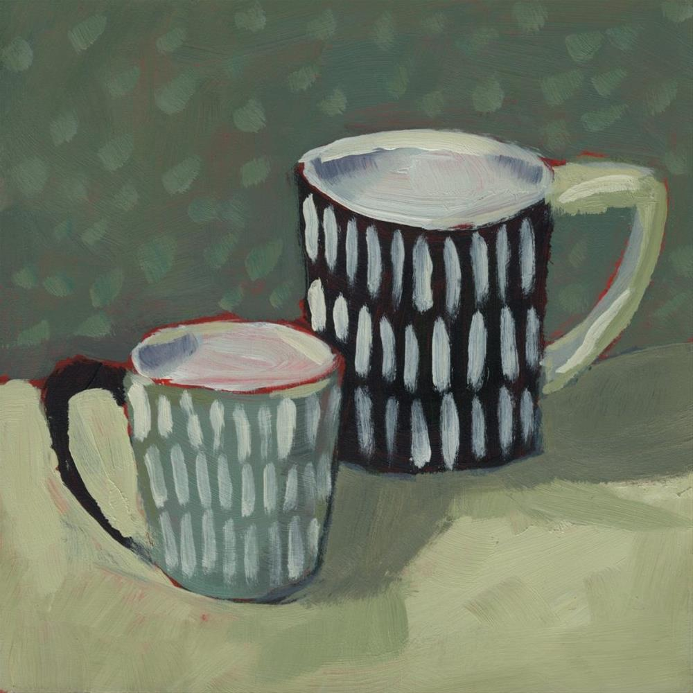 """0282: Two New Mugs for Christmas"" original fine art by Brian Miller"
