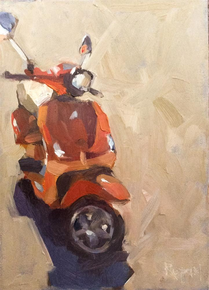 """Scoot"" original fine art by Rupam Barthakur"