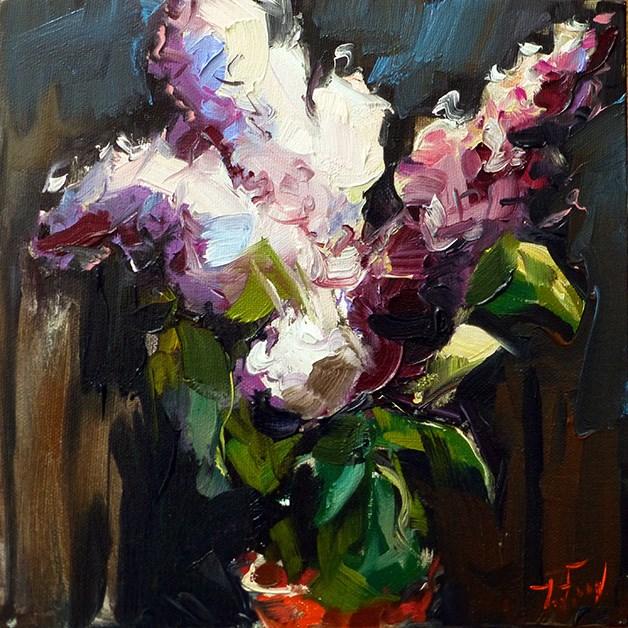 """Flieder"" original fine art by Jurij Frey"