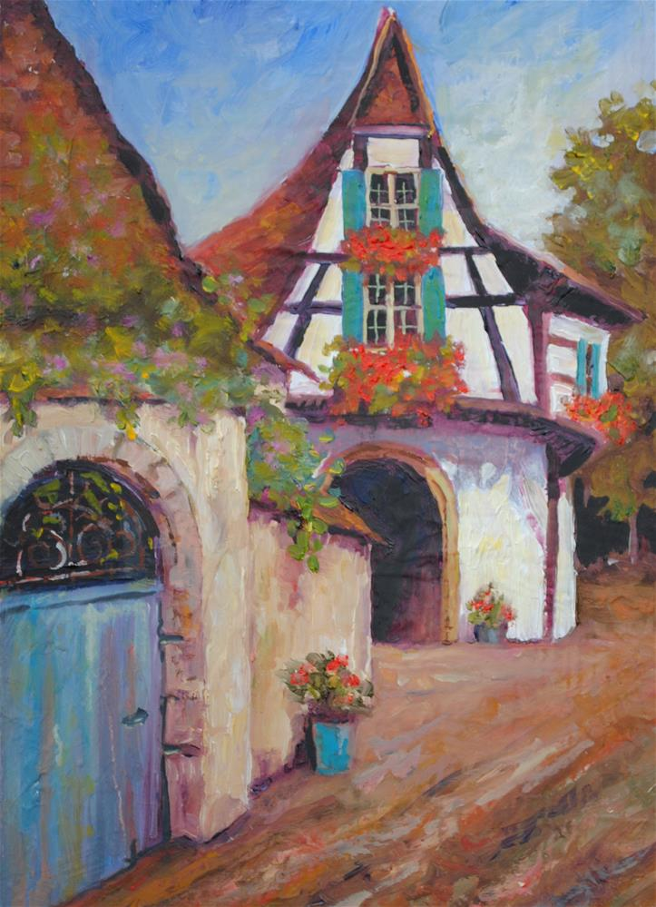 """Scandanavian Village"" original fine art by Nan Perry"