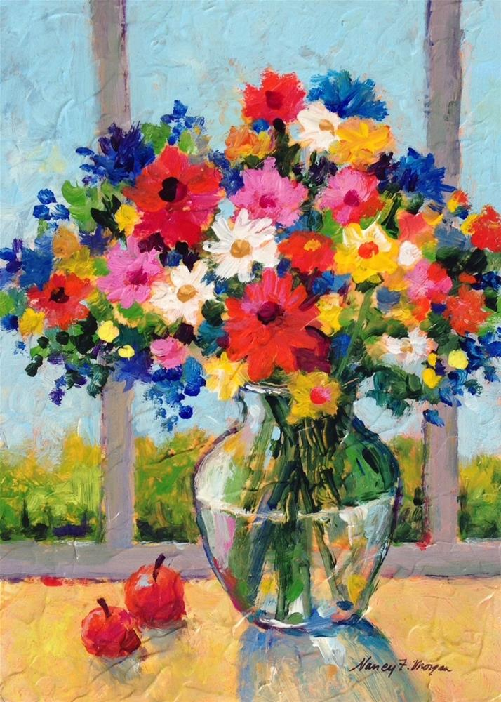 """Tomorrows Flowers"" original fine art by Nancy F. Morgan"