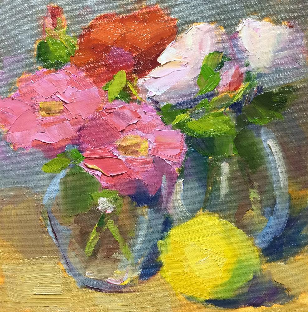 """Spring Flowers"" original fine art by Naomi Bautista"