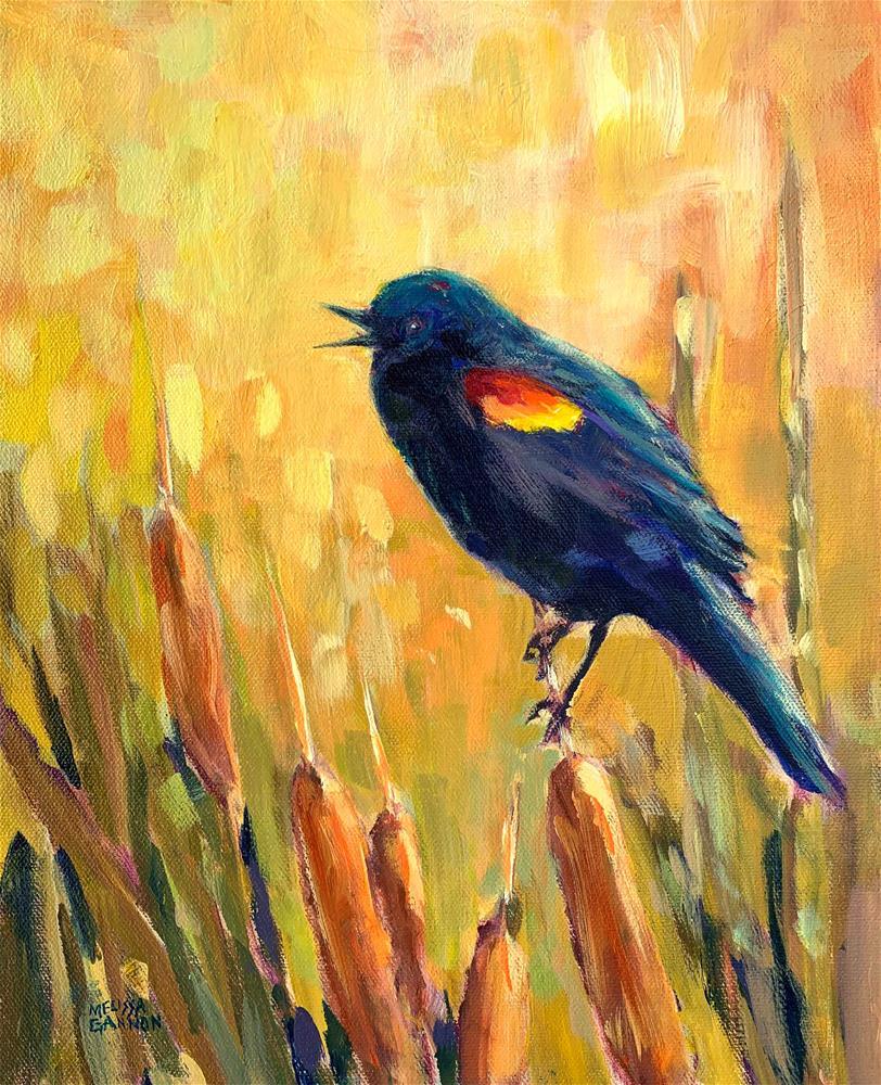 """""""Glow in the Marsh"""" original fine art by Melissa Gannon"""