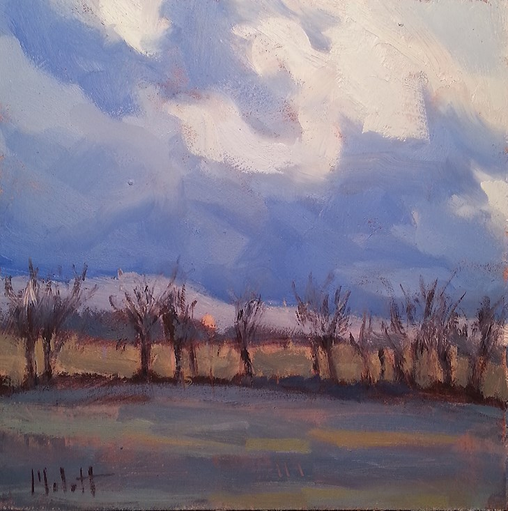 """Contemporary Impressionism Spring Storm Clouds Landscape Oil Painting"" original fine art by Heidi Malott"