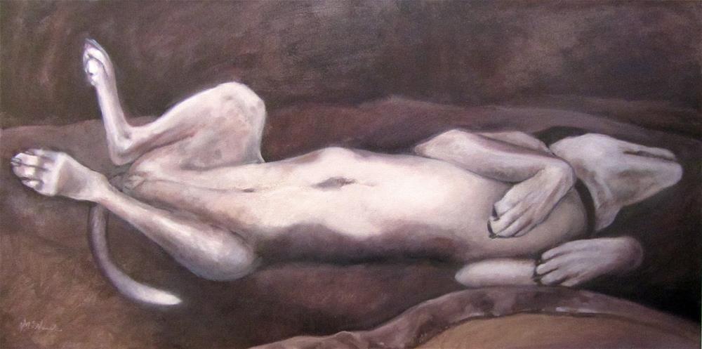 """Let Sleeping Dogs Lie"" original fine art by Michel McNinch"
