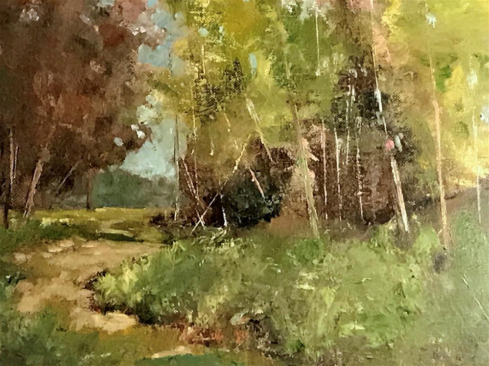 """dirt road"" original fine art by Betty Argiros"