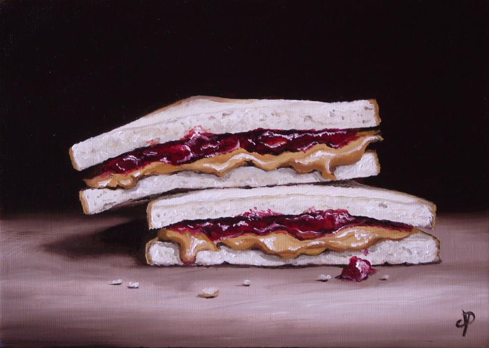 """PB&J Sandwich"" original fine art by Jane Palmer"