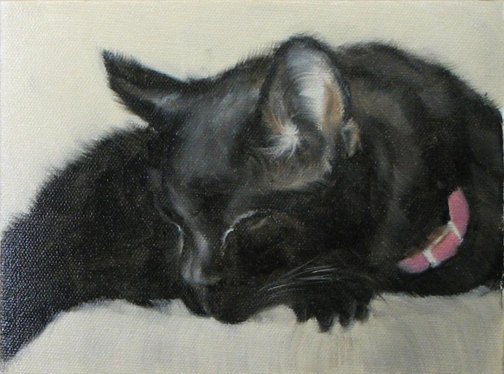 """Kitten Kaboodle in repose"" original fine art by Karen Rodgers"