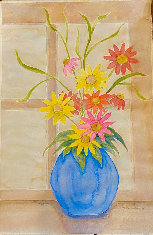 """SPRINGTIME FLOWERS"" original fine art by Judie Mulkey"
