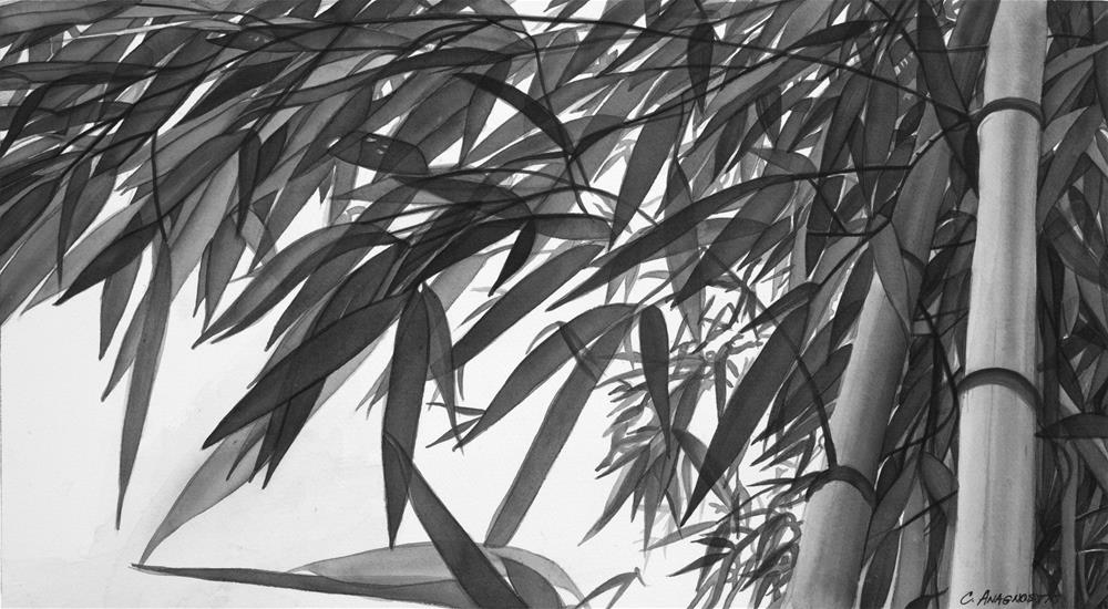 """Bamboo "" original fine art by Christine Anagnostis"