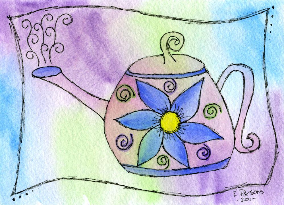 """""""Tea Time"""" original fine art by Kali Parsons"""
