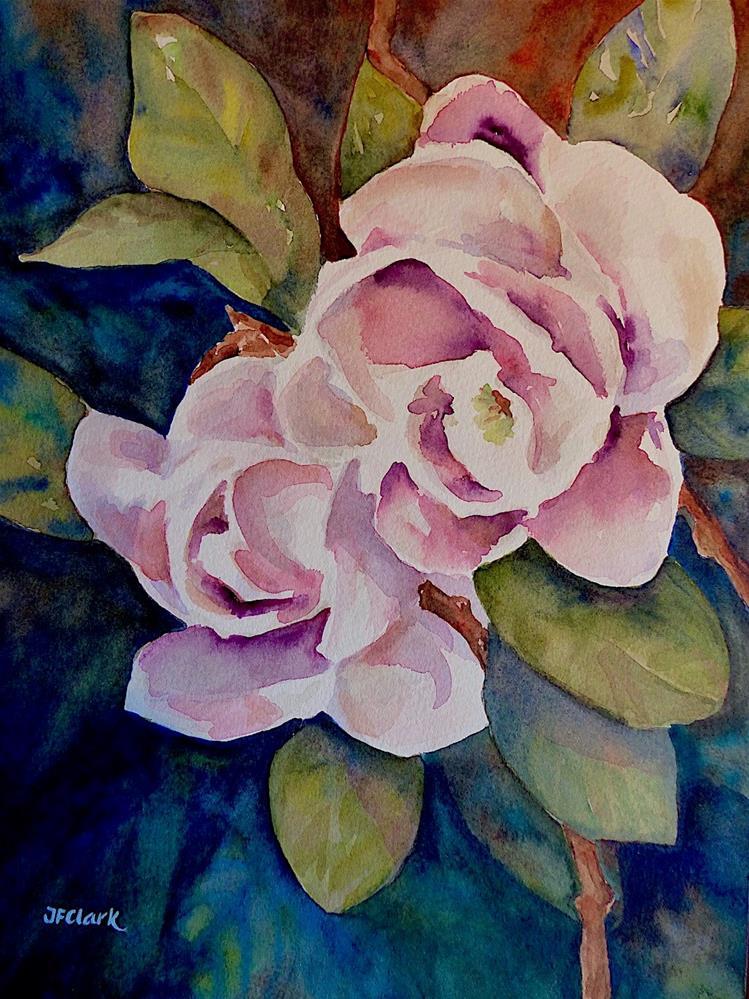 """Pink Magnolias"" original fine art by Judith Freeman Clark"