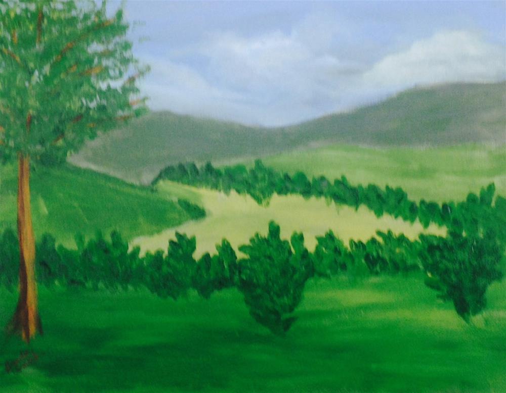 """Green Pastures"" original fine art by Brenda Smith"