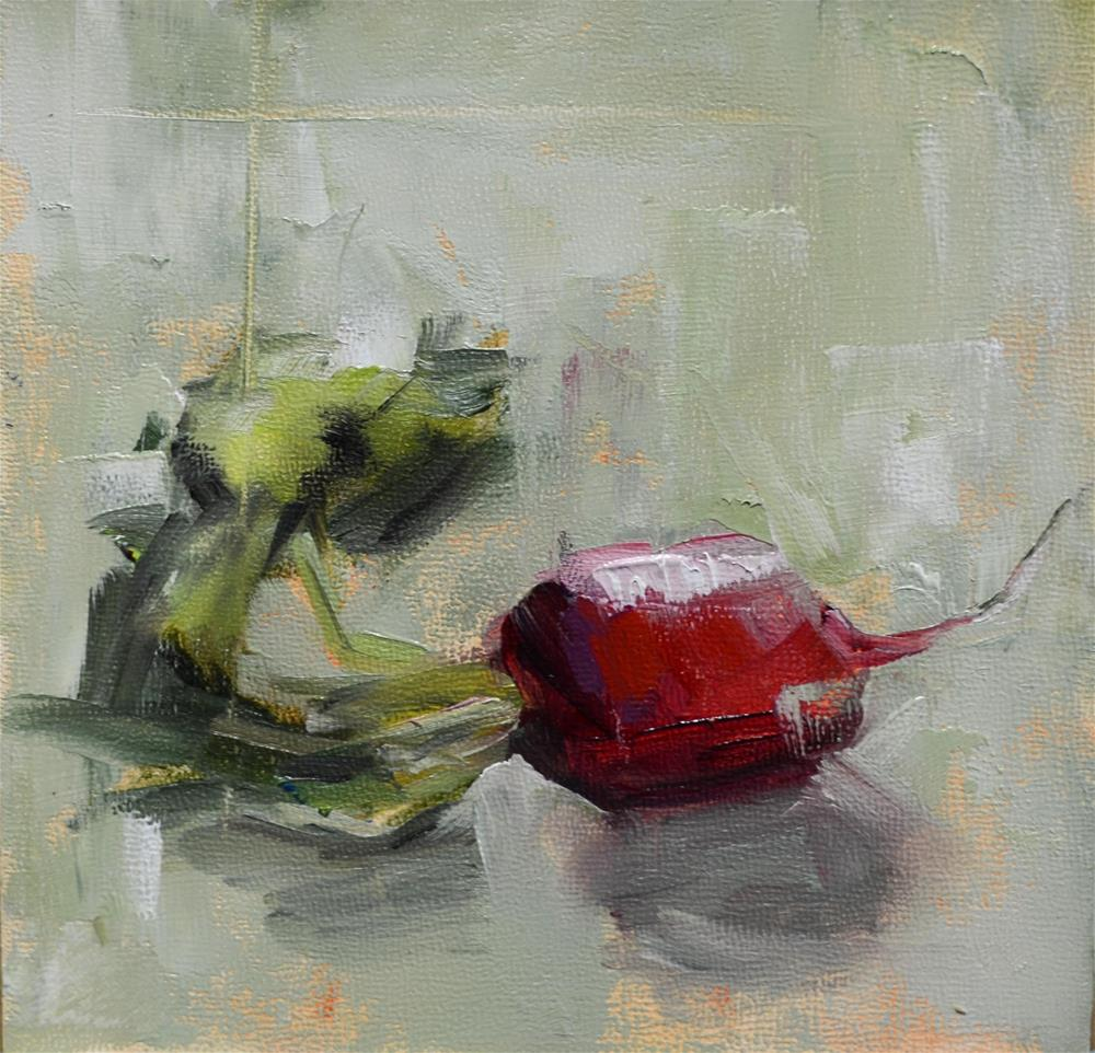 """Red Radish"" original fine art by Martha Lever"