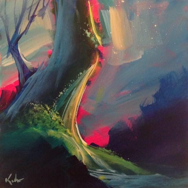 """Fallen Out That Hour"" original fine art by David Kuhn"