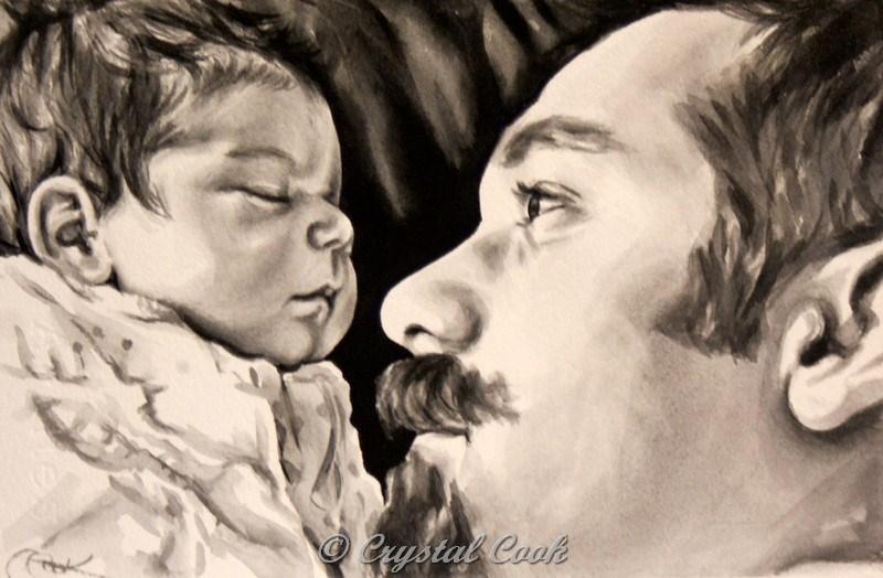 """Dad's Love"" original fine art by Crystal Cook"