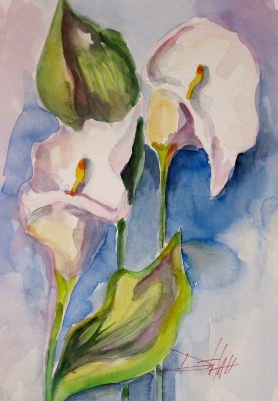 """""""Calla Lily"""" original fine art by Delilah Smith"""