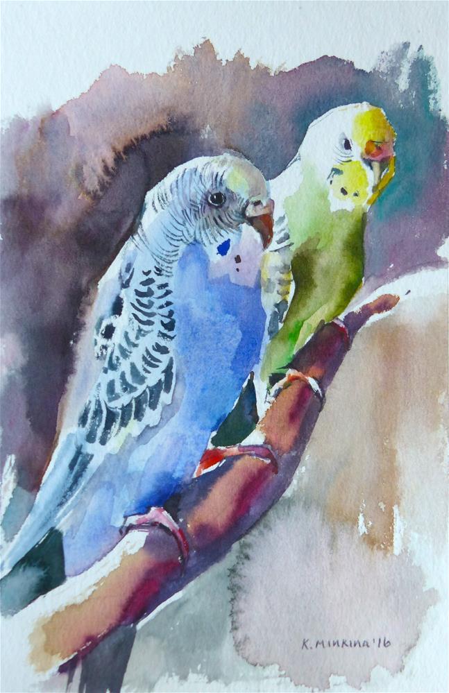 """budgie19"" original fine art by Katya Minkina"