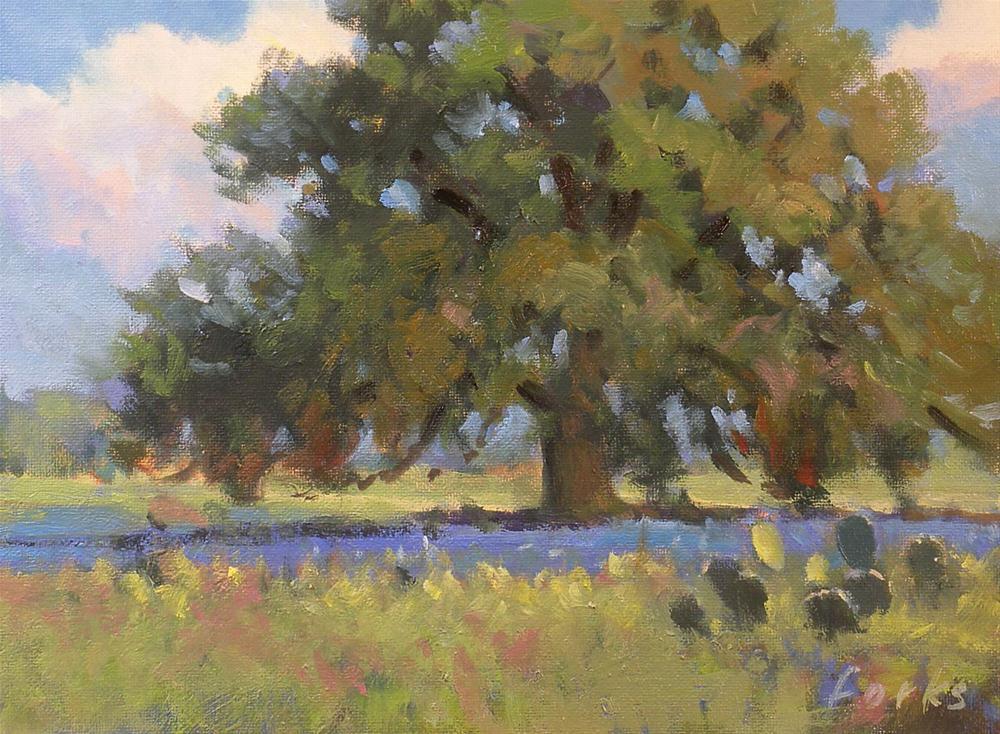 """""""Oak Tree"""" original fine art by David Forks"""