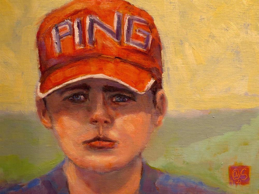 """""""Red Hat"""" original fine art by Aurelio Saiz"""