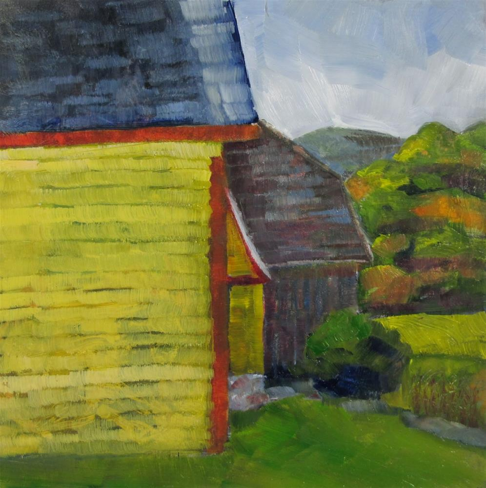 """Three Barns and a View"" original fine art by Christine Holzschuh"