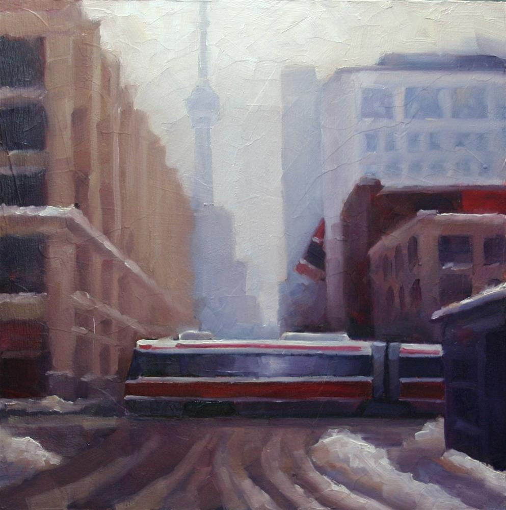 """After The Snow, John and Queen Street"" original fine art by Catherine Jeffrey"