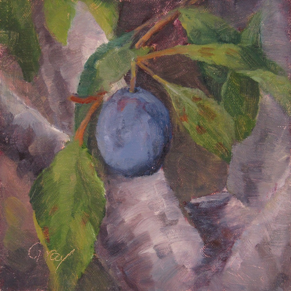 """Orchard Series - Plum"" original fine art by Naomi Gray"