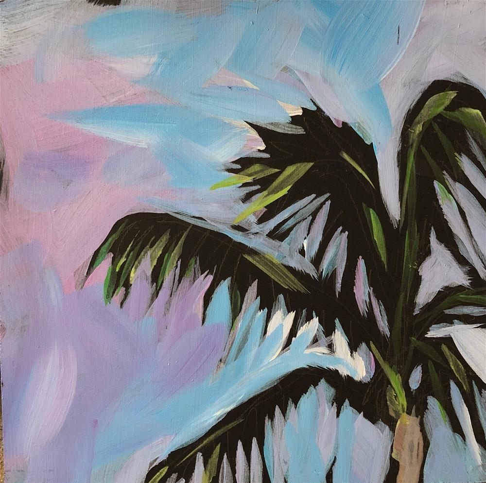 """Palm Tree in the Sunshine"" original fine art by Kat Corrigan"