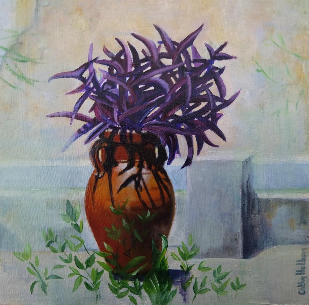 """Terracotta Vase"" original fine art by Cathy Holtom"
