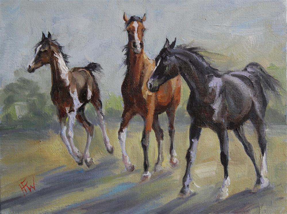 """""""Free Spirits"""" original fine art by H.F. Wallen"""