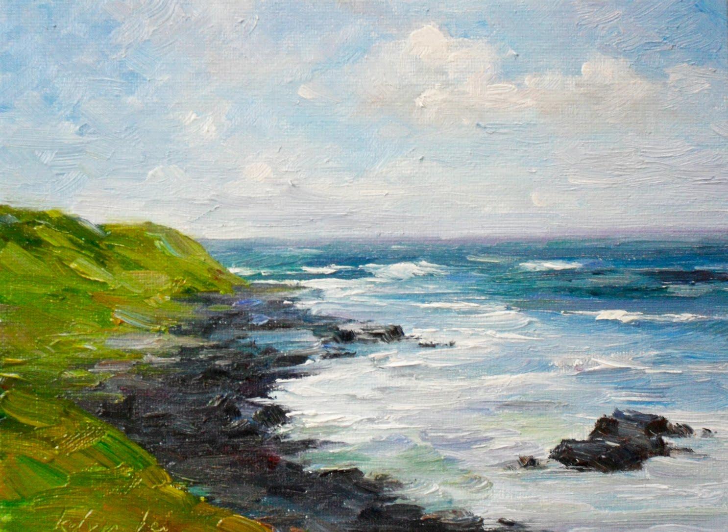 """Black beach"" original fine art by Kelvin Lei"
