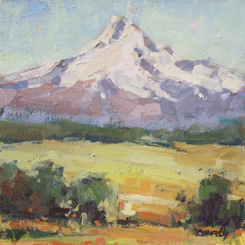 """Mt Hood Two"" original fine art by Cathleen Rehfeld"