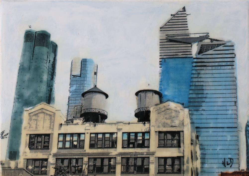 """Twin Water Towers (now)"" original fine art by Heather Douglas"