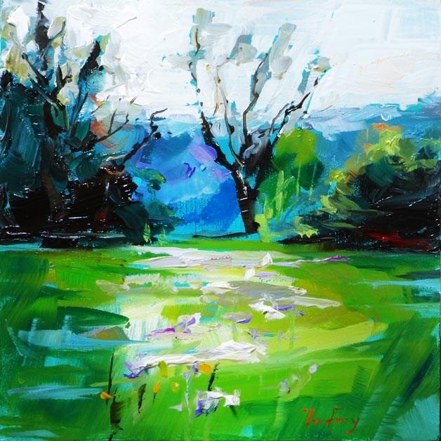"""""""Iriswiese"""" original fine art by Jurij Frey"""