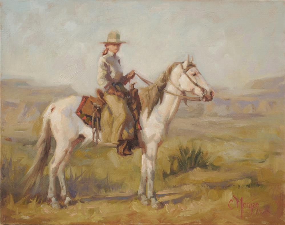 """Cowgirl Memories #10"" original fine art by Cecile W. Morgan"