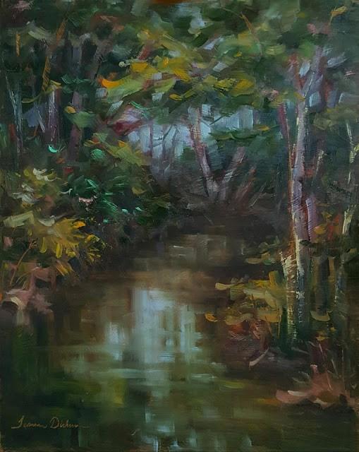 """Creek Along Cleveland"" original fine art by Tammie Dickerson"