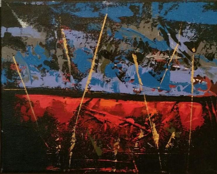 """Fire and Ice"" original fine art by Stuart Glazer"