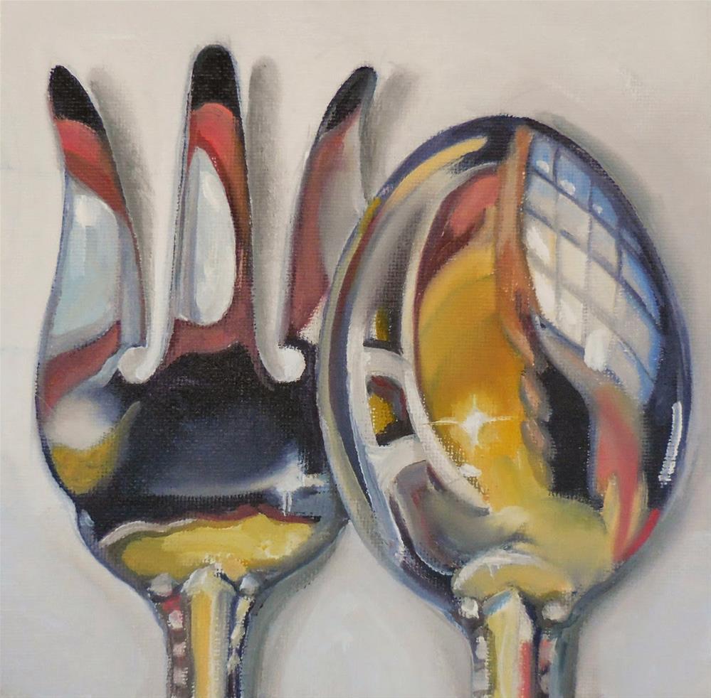 """Psychedelic Servers"" original fine art by Beth Moreau"