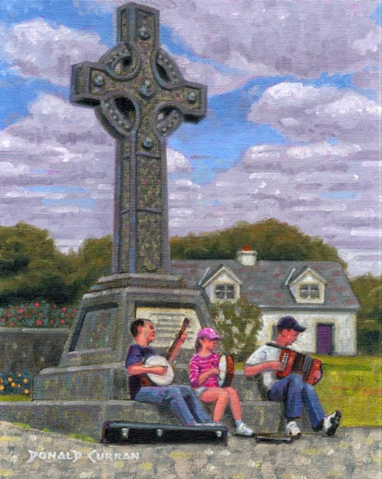 """Irish Kids Playing Traditional Music"" original fine art by Donald Curran"