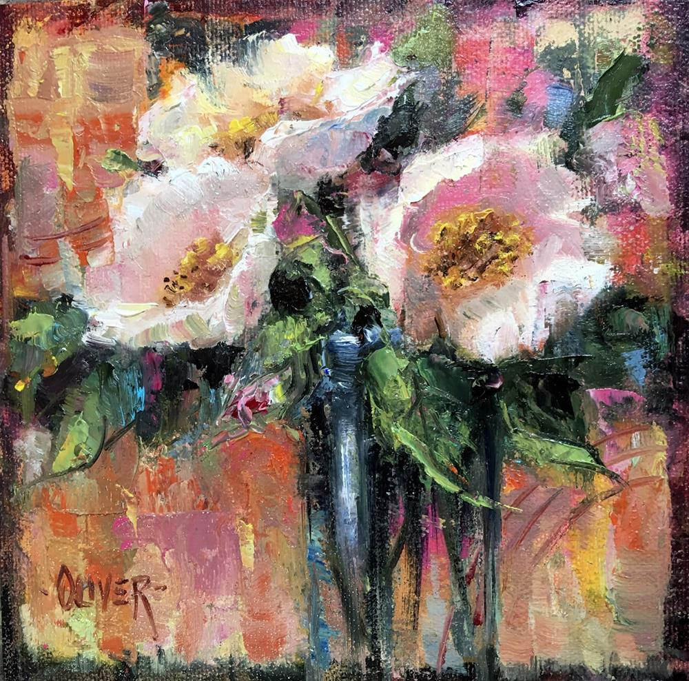 """""""A Floral and An Analogous Demo"""" original fine art by Julie Ford Oliver"""