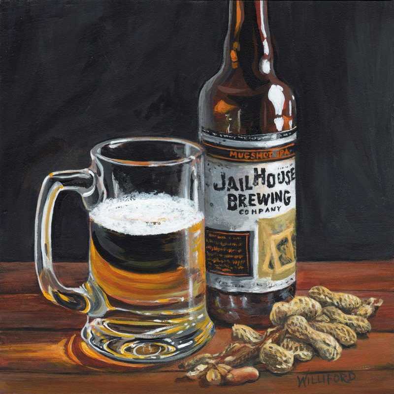 """""""JailHouse Beer"""" original fine art by Kathleen Williford"""