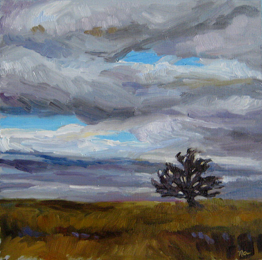 """Alone on The Range"" original fine art by Nicki Ault"