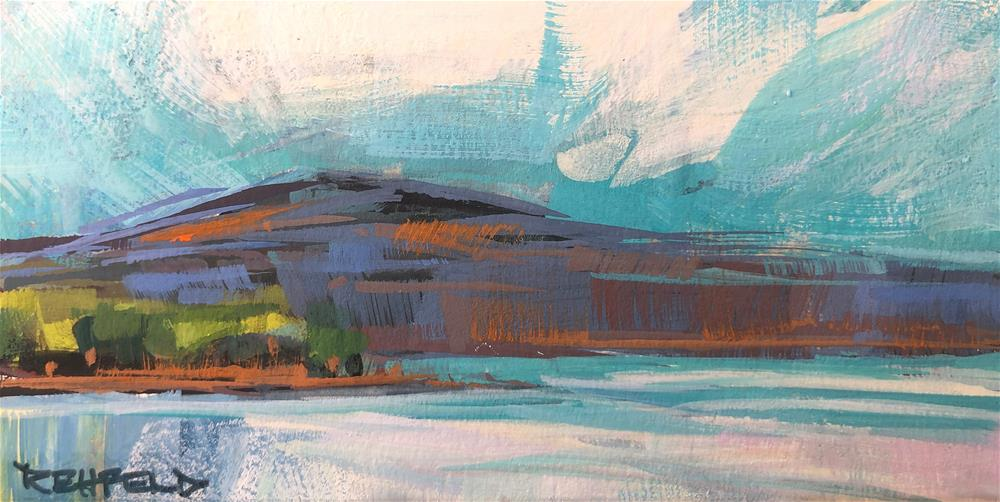 """Underwood Mountain"" original fine art by Cathleen Rehfeld"