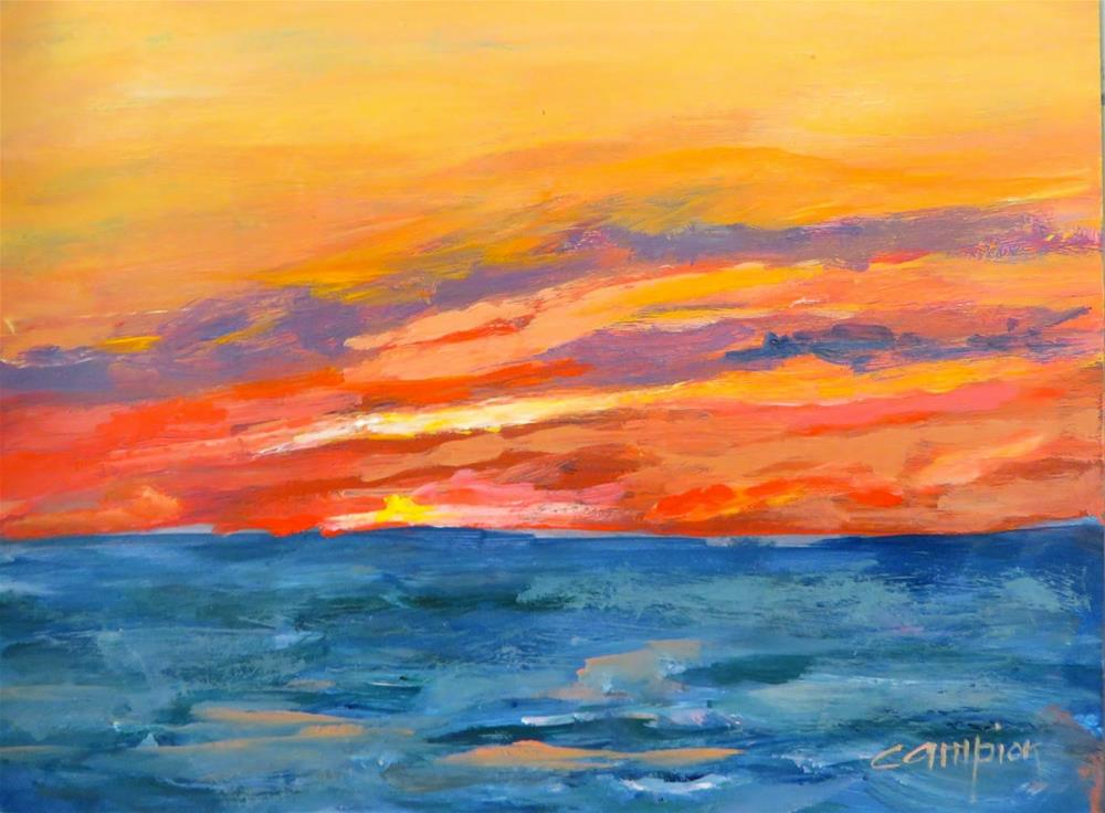 """581 Door County Sunset"" original fine art by Diane Campion"
