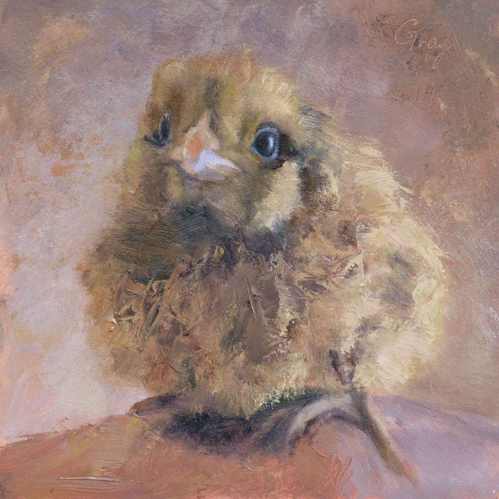 """Baby Kara"" original fine art by Naomi Gray"